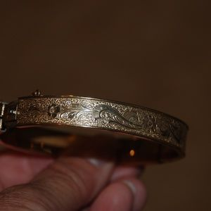 Krementz Gold Tone Filagree Bracelet